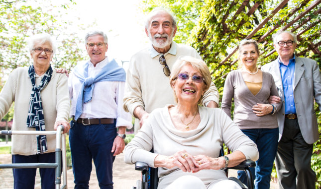 group photo of three senior couples